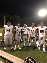 Raiders Offensive Line shines in 1st Region Game of the Year