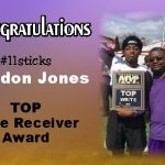 "Congrats ""Sticks""- Top Wide Receiver"