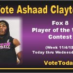 Vote Ashaad Clayton Player of the Week