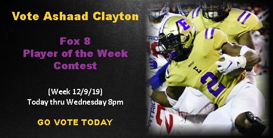Vote Ashaad Clayton: Fox 8 Player of the Week