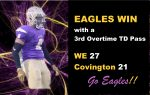 Eagles Win with Third Overtime TD Pass