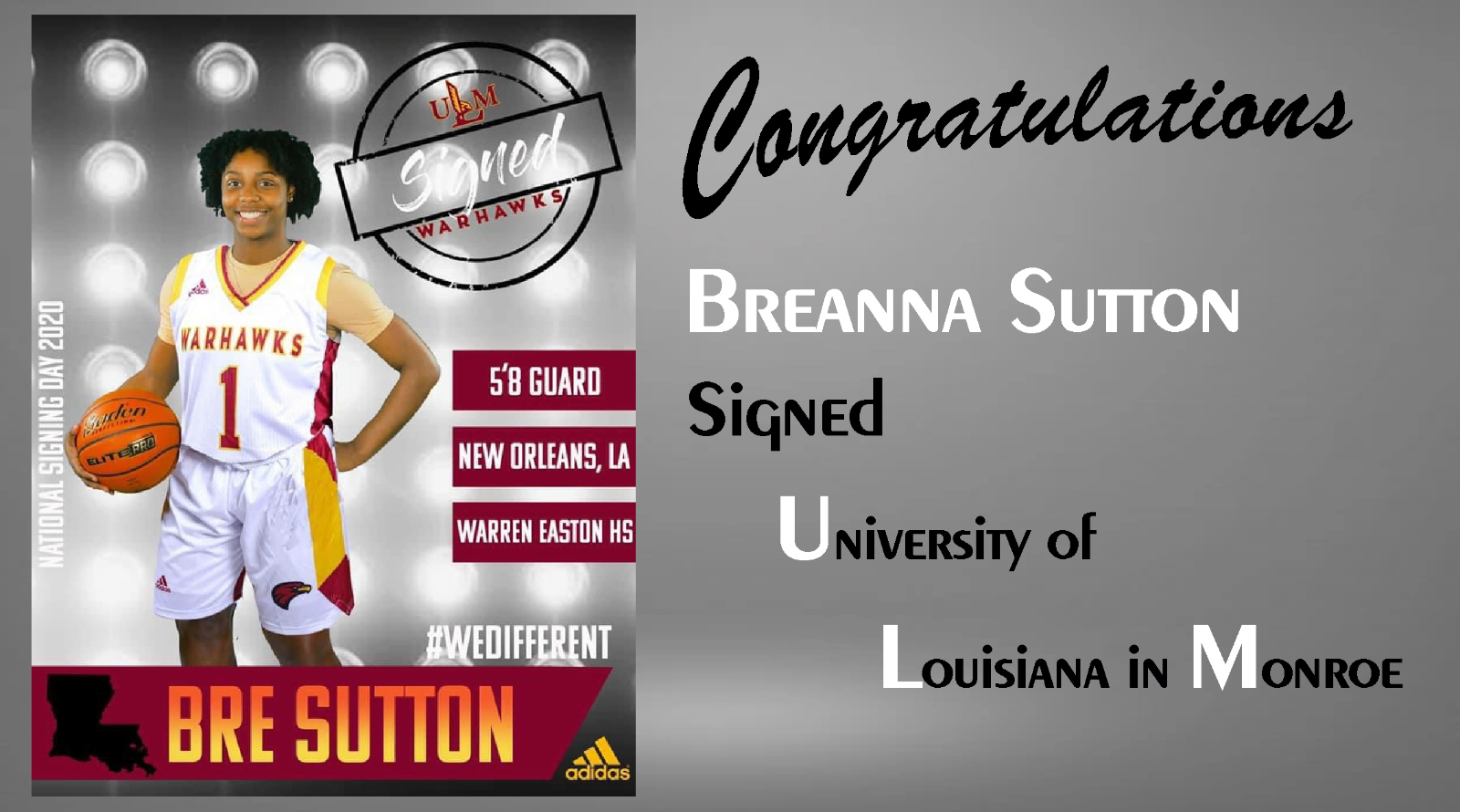Breanna Sutton Signs with ULM