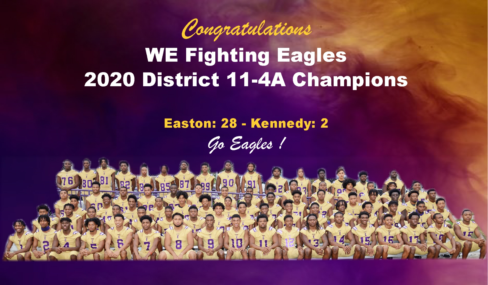 Eagles: District 11-4A District Champions