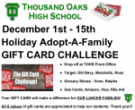 TOHS Gift Card Challenge