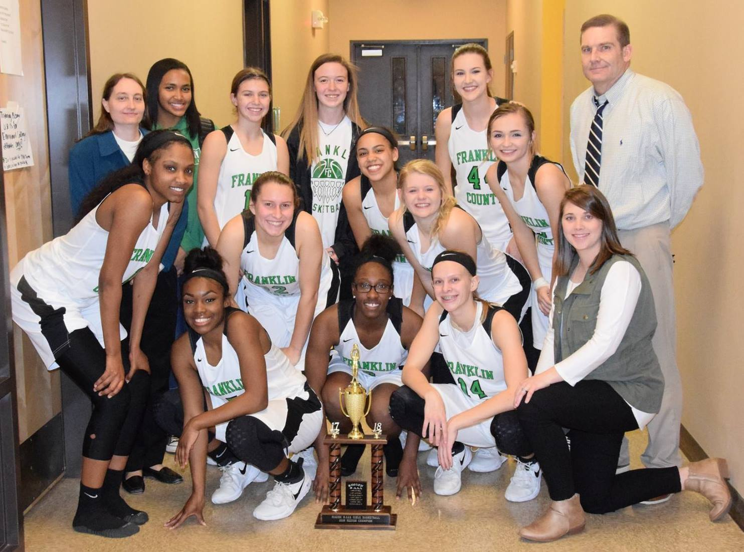 Varsity Girls Basketball Win Region!  27-0 heading into the State Playoffs!