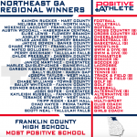 Franklin Named Northeast GA Regional Winner for Most Positive High School!