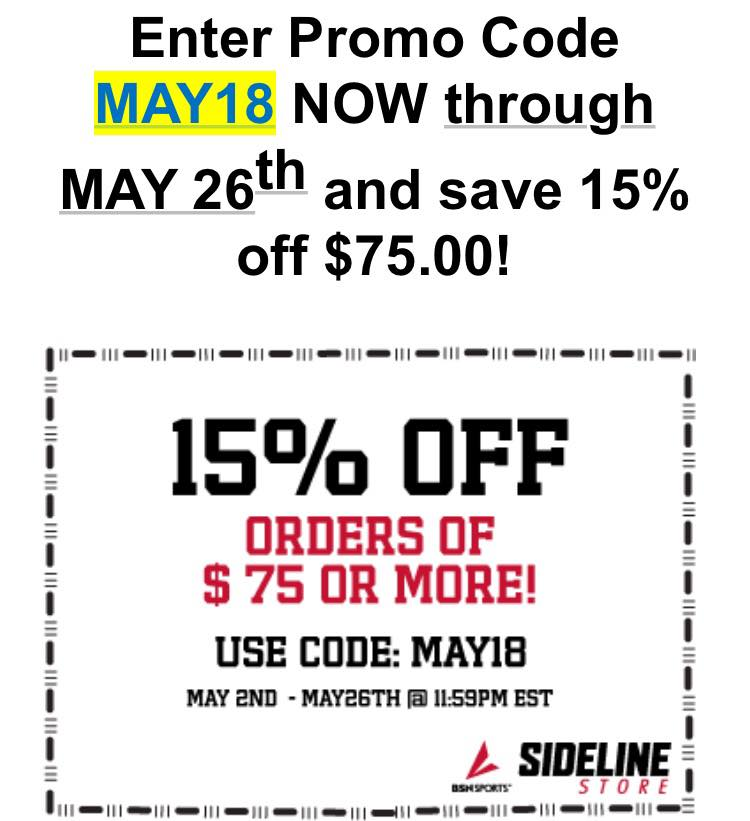 Shop Now and SAVE with your Official Online Sideline Store