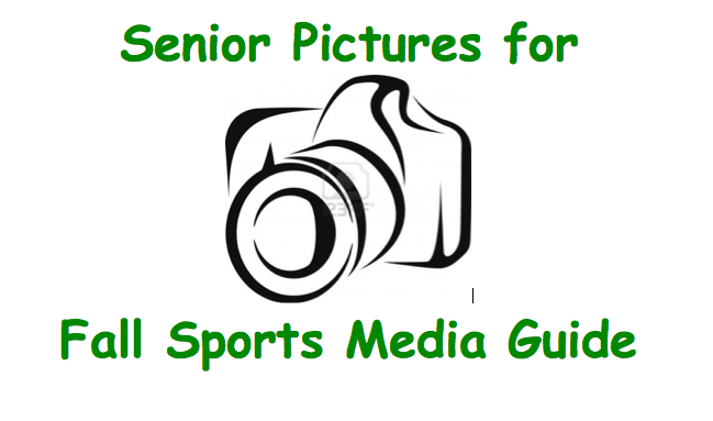 Senior Pictures Info for Fall Media Guide