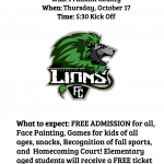 Community Pep Rally – Thursday Oct 17 beginning at 5:30p FCHS