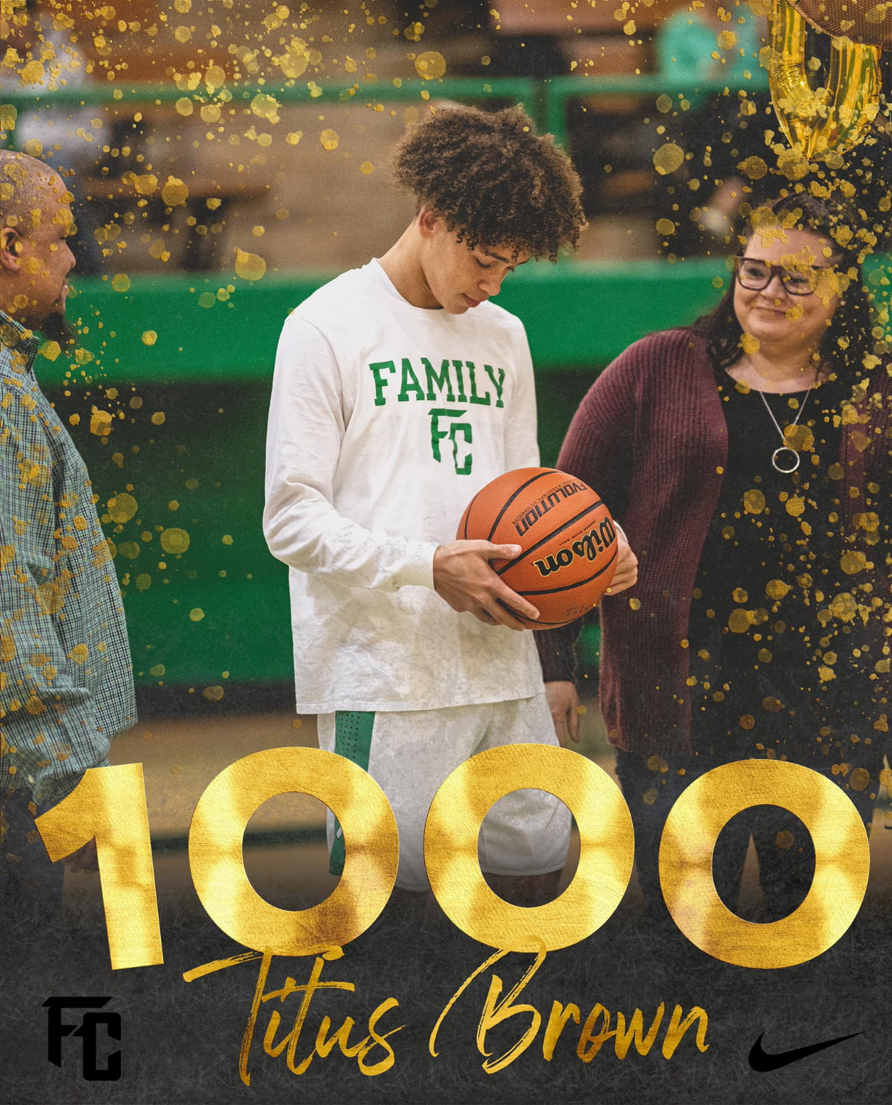 Titus Brown Joined the 1000 Point Club