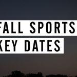 FHSAA Fall 2017 Key Dates – Presented by VNN