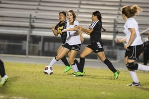 The Panthers JV girls soccer fell to the Fort Meade Miners 4-0 on 1/3/17