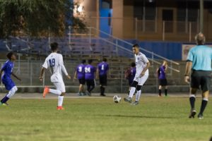The MHS Varsity Soccer Team held the Tenoroc Titans to a scoreless game winning 7-0
