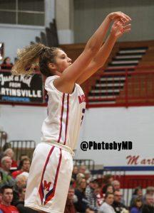 Martinsville girls basketball v. Bishop Chatard
