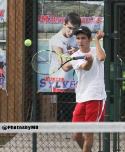 8/29/17 Martinsville Boys' Tennis vs. Mooresville