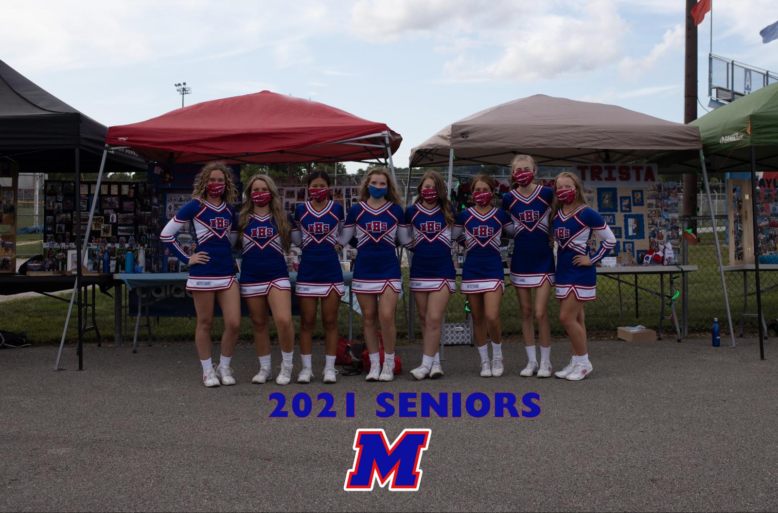 Martinsville High School | Cheer | Senior Night 2021 Seniors