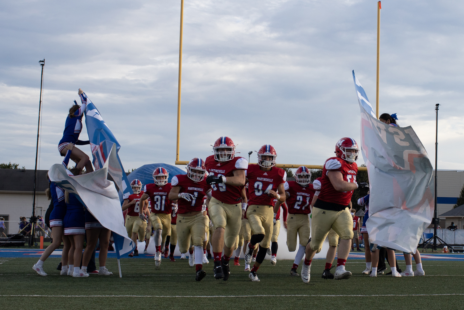 MARTINSVILLE HIGH SCHOOL VARSITY FOOTBALL VS BLOOMINGTON SOUTH