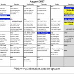 UPDATED AUGUST FOOTBALL PRACTICE SCHEDULE