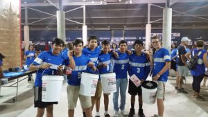 Boys Soccer Helps with Disaster Relief