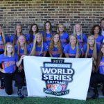 Abbey Tafelski and Cassidy Swartz in Softball World Series