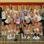 Varsity volleyball took 1st in White division at Crown Point Invite
