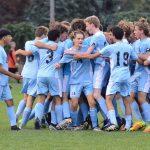 Saint Joseph High School Boys Varsity Soccer beat Marian High School 1-0