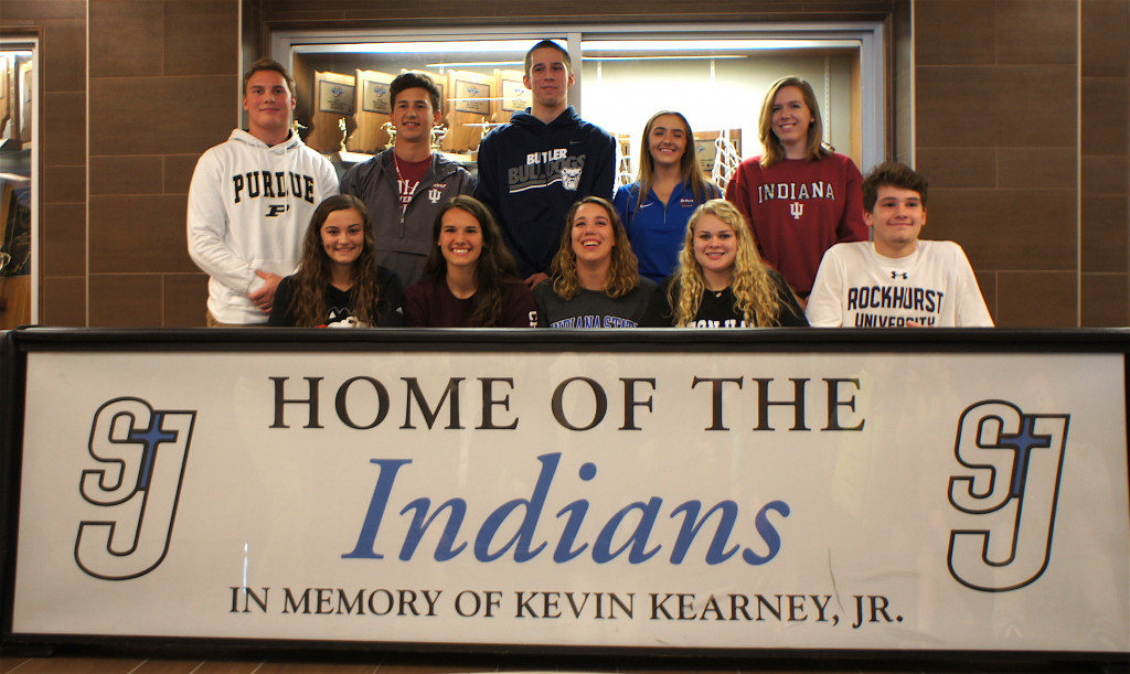 Ten student-athletes committed to continue athletic career