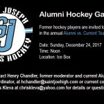 Alumni Hockey Game is December 24, 2017