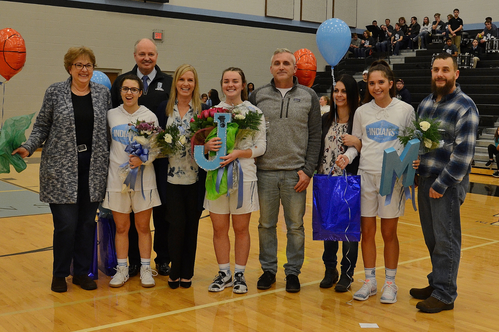 Girls' Basketball Honors Seniors