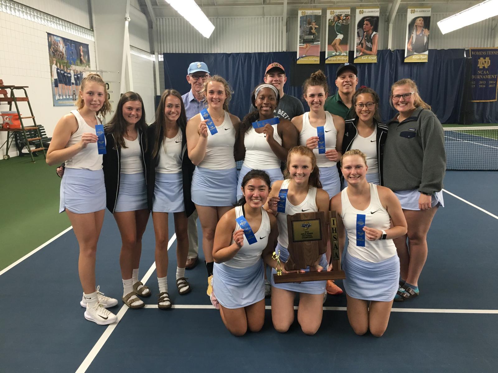 Girls' Tennis wins IHSAA Sectional
