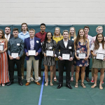 Anna Catherine Pritchard and Tate Eckard Honored at Hall of Fame Ceremony