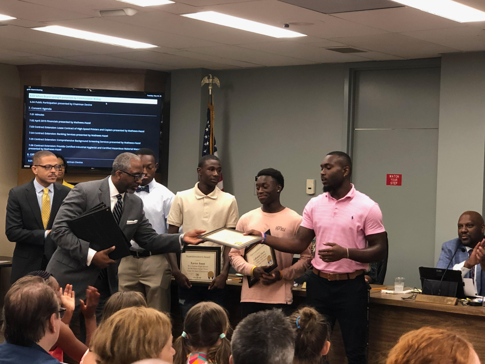 Boys Raider Track Team Recognized at Richland One Board Meeting For State Honors
