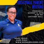 Volleyball Parent Meeting – Thursday, August 8