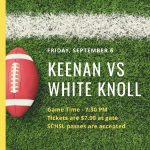 Boys Varsity Football falls to White Knoll 49 – 14