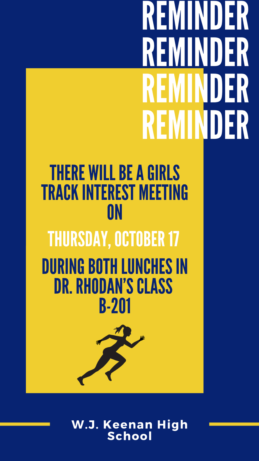 Girls Track Interest Meeting