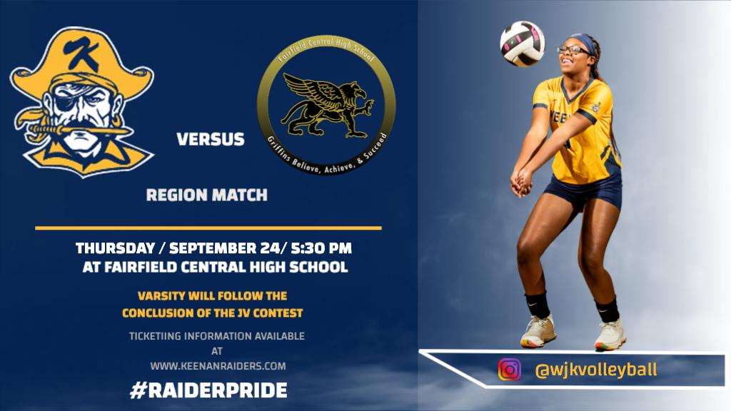 JV and Varsity Volleyball @ Fairfield – Ticket Information!