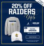 Holiday Sale – 20% off ALL Keenan Raider Apparel!