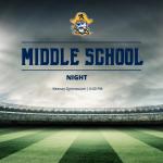 Football Middle School Night