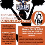 Cheerleading Tryouts March 24-27,2020