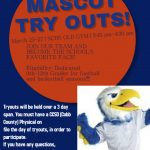 Mascot Tryouts March 25-27, 2020 Auxiliary Gym