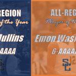 Mullins & Washington Selected Region 6-AAAAAA Player of the Year