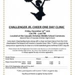 Challenger Jr. Cheer One Day Clinic
