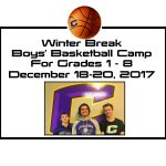 Winter Break Basketball Camp for 1st-8th Grade Boys!