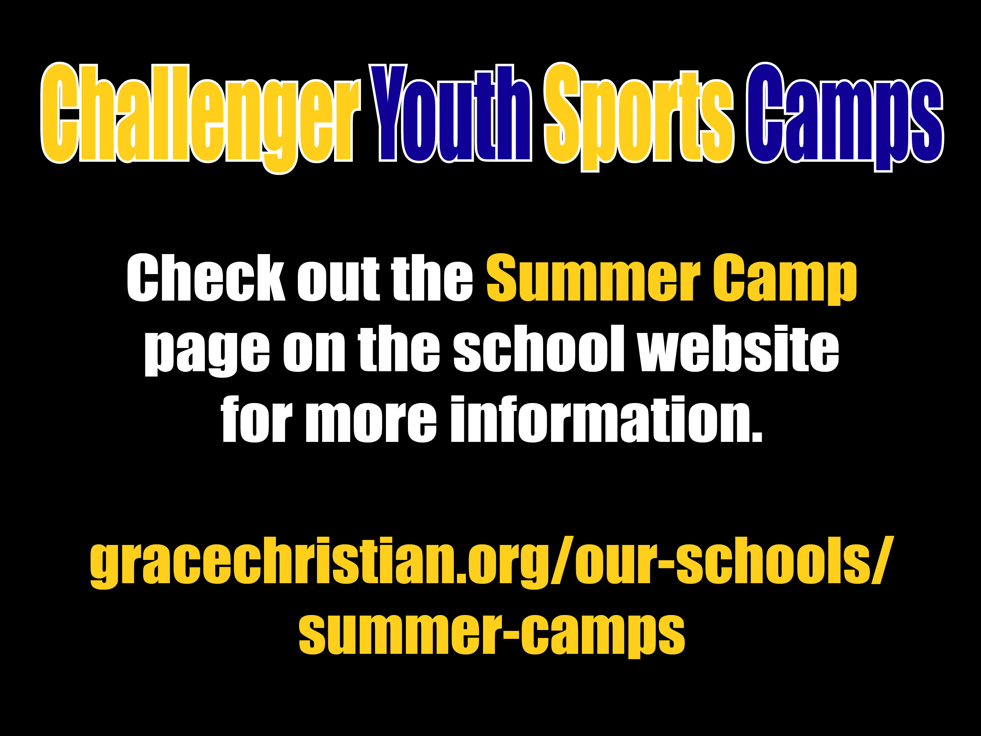 Challenger Youth Sports Camps