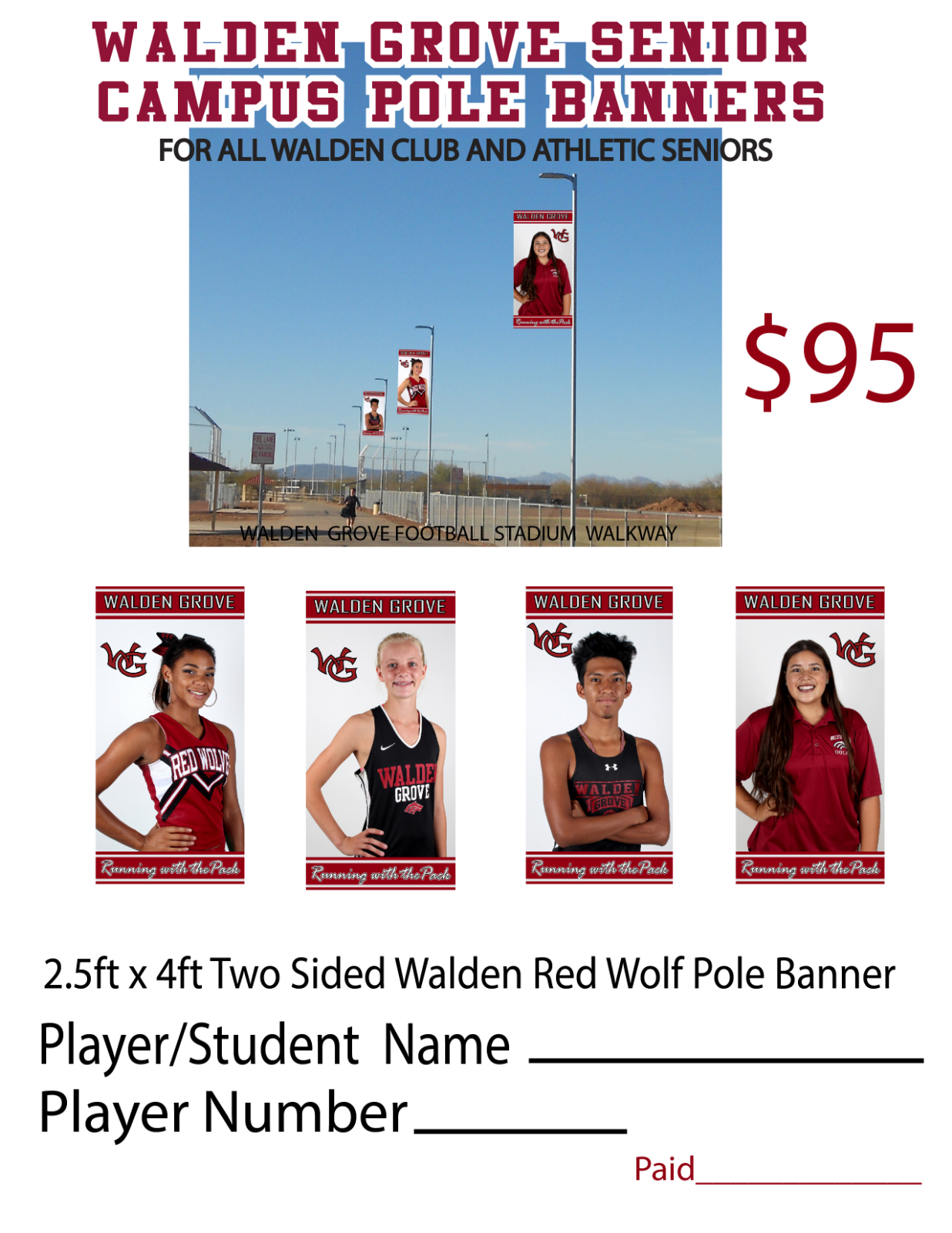 New Senior Banners Being Sold!