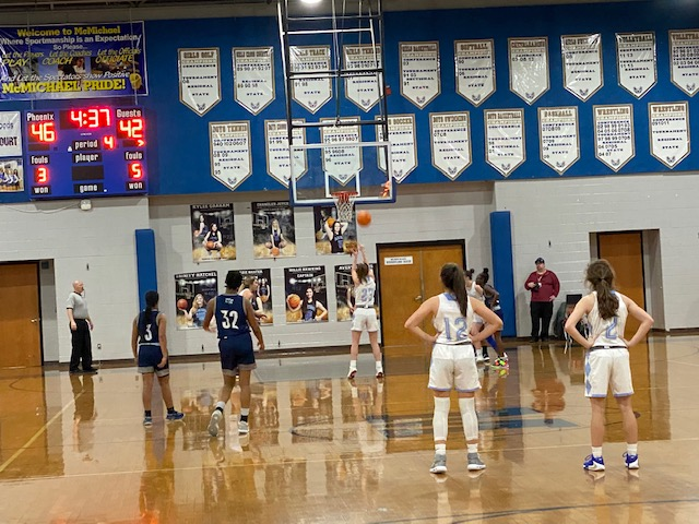 Lady Phoenix Even Conference Record With Win Over Northeast Guilford