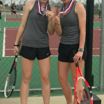Girls Junior Varsity Tennis finishes 2nd place at District 8-3A Meet