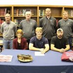 BASEBALL: Caleb Hopkins all smiles after signing with Hiwassee