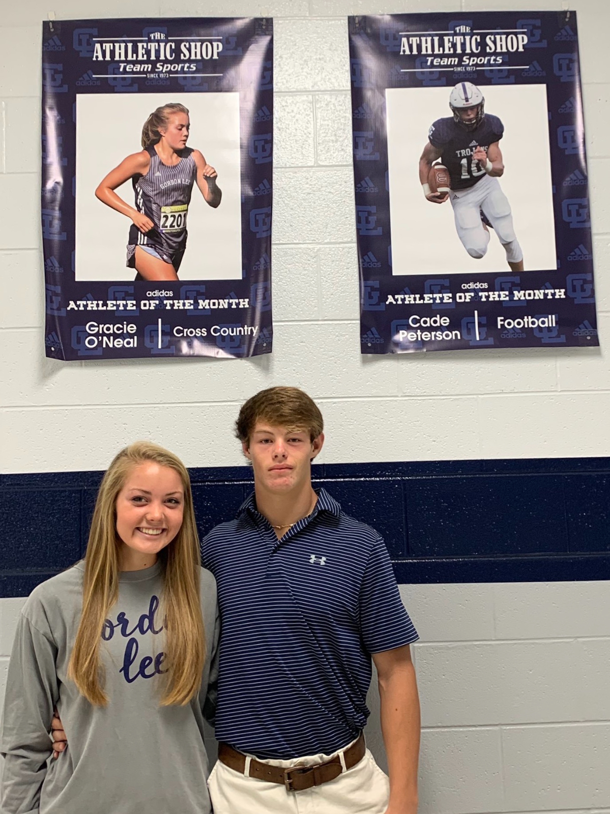 ATHLETES OF THE MONTH: Gracie O'Neal and Cade Peterson