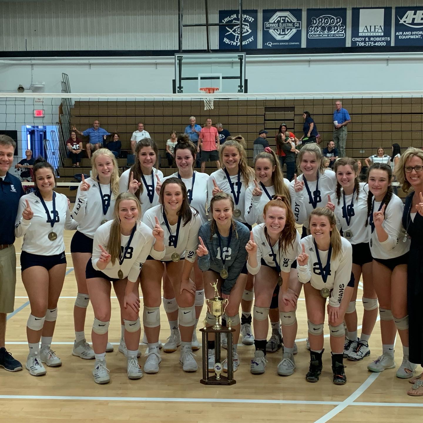 VOLLEYBALL:Lady Trojans are Region Champs;Brooklyn Hudson selected Player of the Year